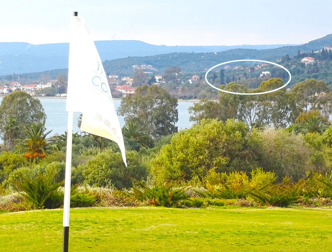 Notre Villa Andrea vu du terrain de golf